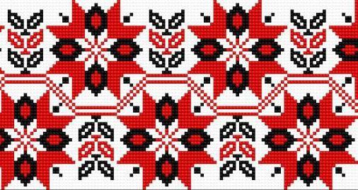 Украинская вышивка: цвета