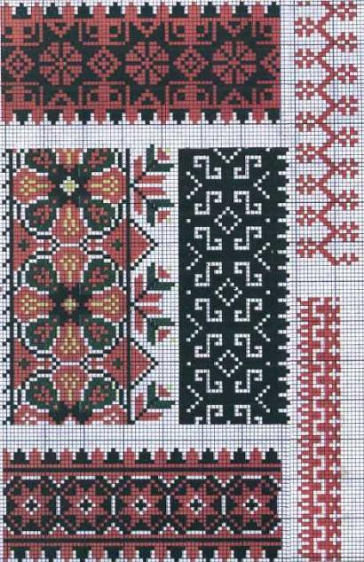 украинская вышивка схема