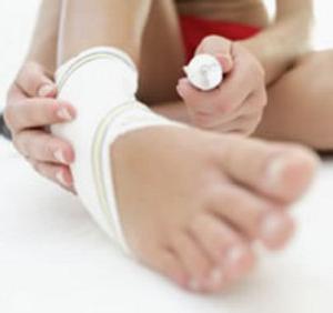 как лечить растяжение связок ноги