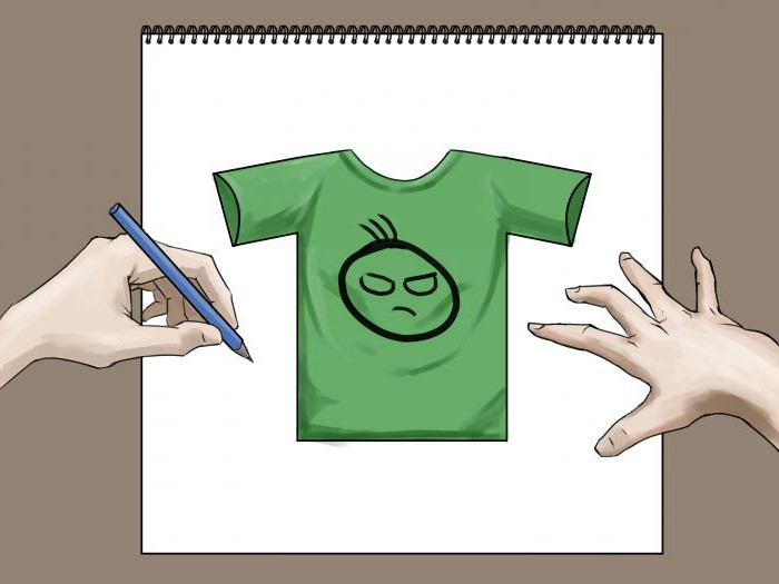 How to draw a t-shirt: basic guidelines and steps