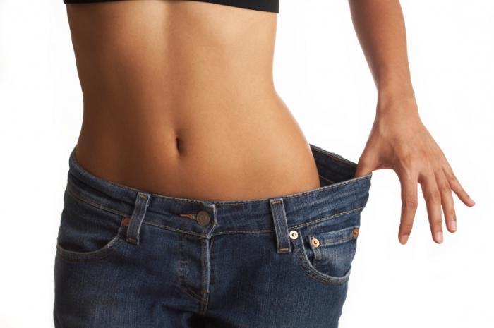 жир на животе человека