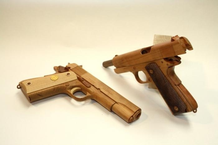 самодельные пистолеты из дерева