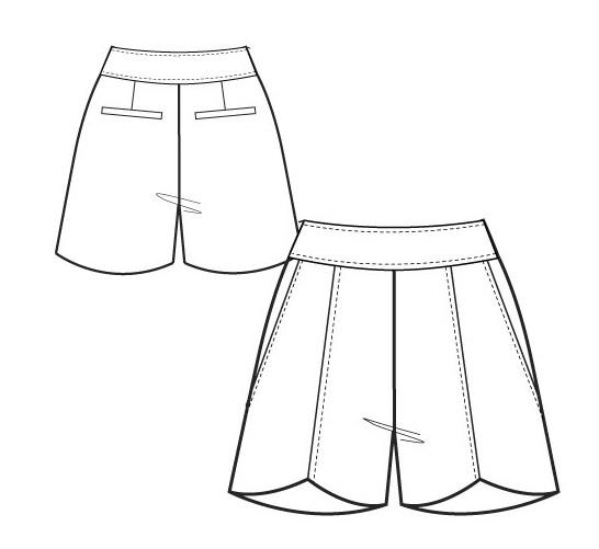 Выкройка женских шорт со складками - идеальная одежда для лета! . Смоделировать шорты со. складками легко, а сшить
