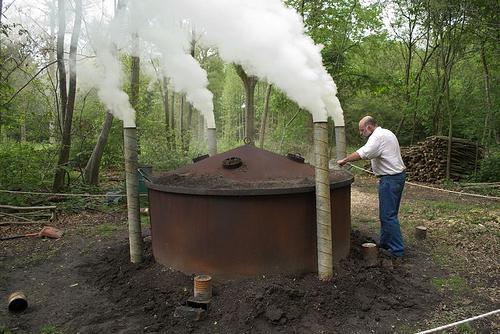 как сделать уголь древесный