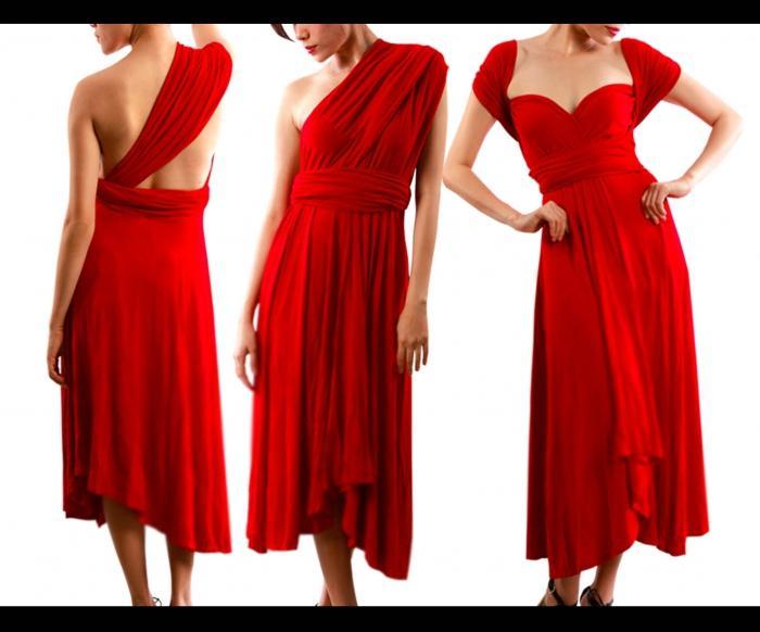 Как сшив платье трансформер 951