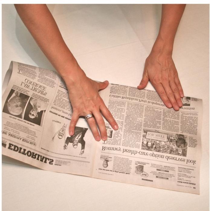 Как из бумаги сделать газету