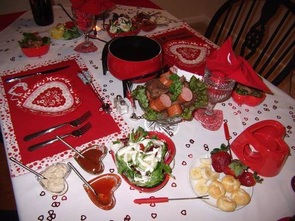 вкусный ужин для любимого