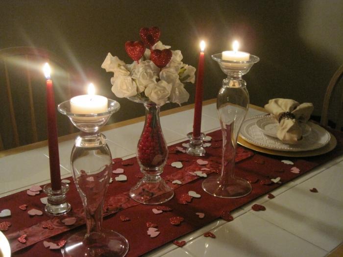 ужин при свечах для любимой