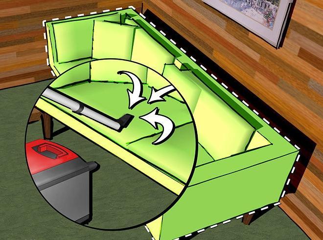 чем почистить обивку дивана
