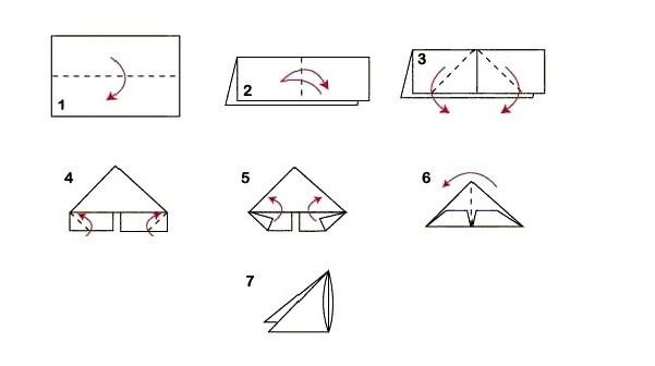 Оригами схема сборки тюльпанов