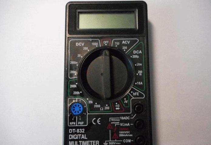 как правильно пользоваться мультиметром dt 832