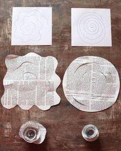 бумагопластика цветы схемы