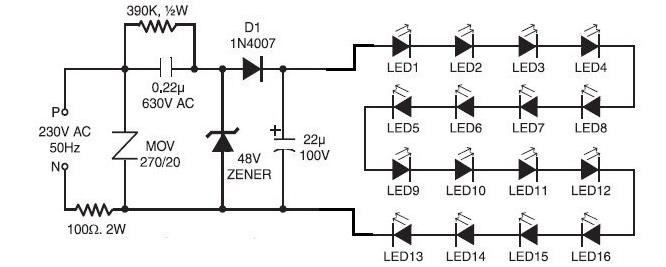 схема плавного включения и выключения светодиодов