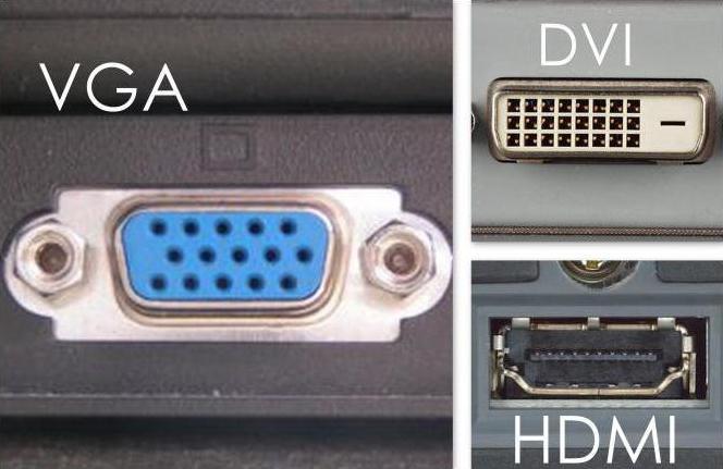 как лучше подключить монитор dvi или hdmi или vga