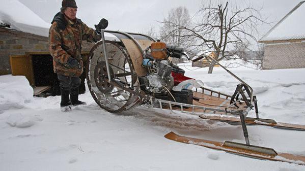 снегоход из мотоблока своими руками чертежи