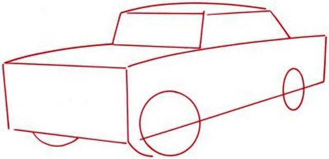 как нарисовать машину карандашом