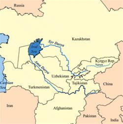 река амударья карта