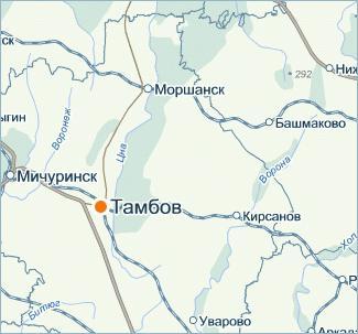 цна река на карте