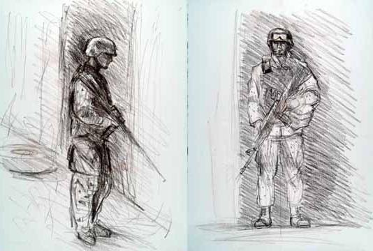 как нарисовать военного солдата