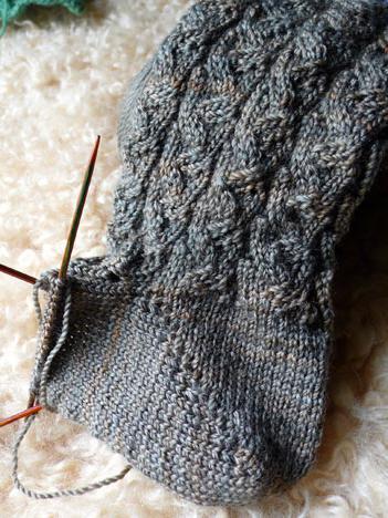 вязание носков спицами пятка