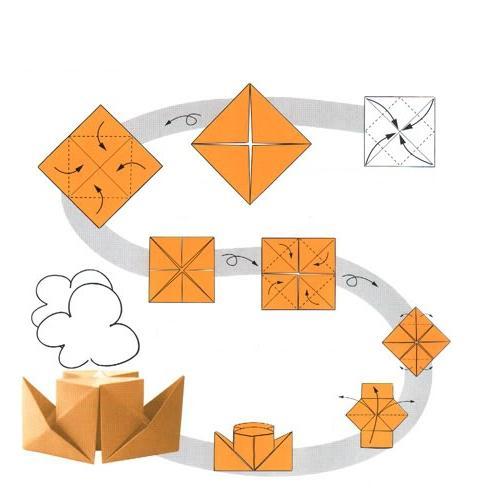 3d поделки из бумаги своими руками схемы