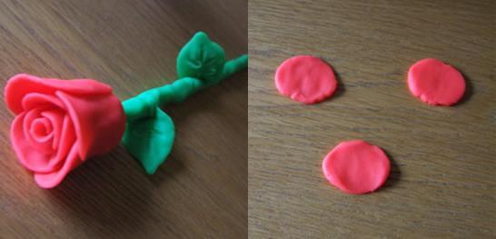 Как сделать из пластилин розу 74