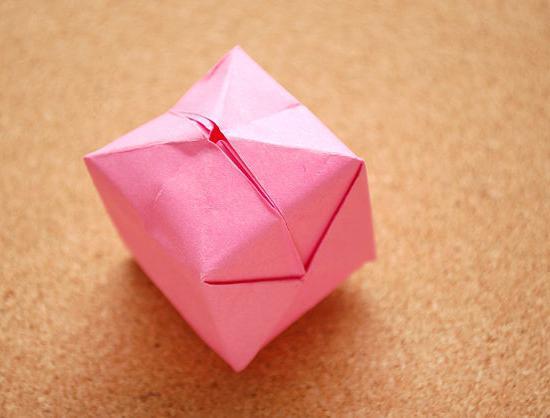 сделать кубик из бумаги