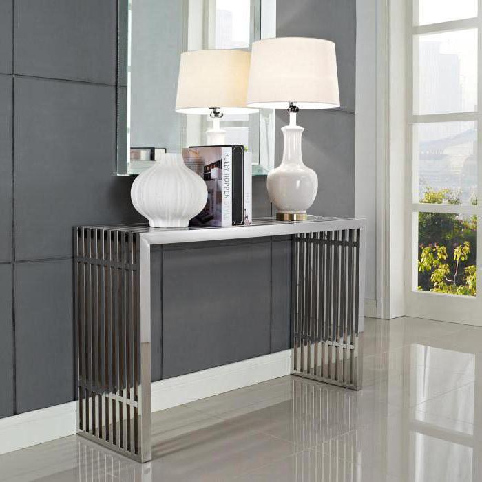 консольные столы в интерьере