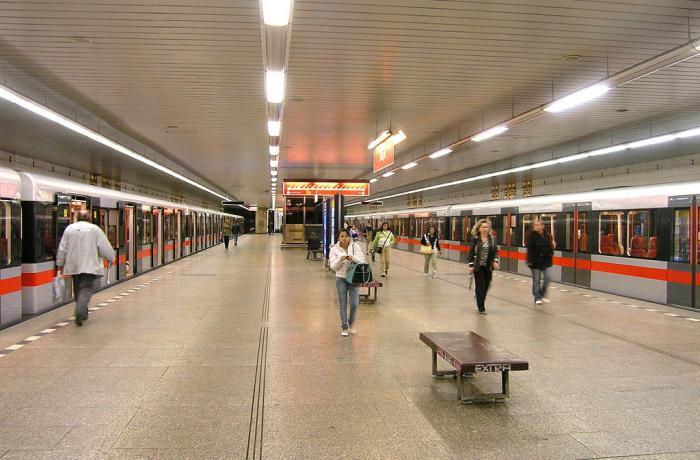 схема метро Праги на