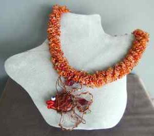 вязание шнурка крючком