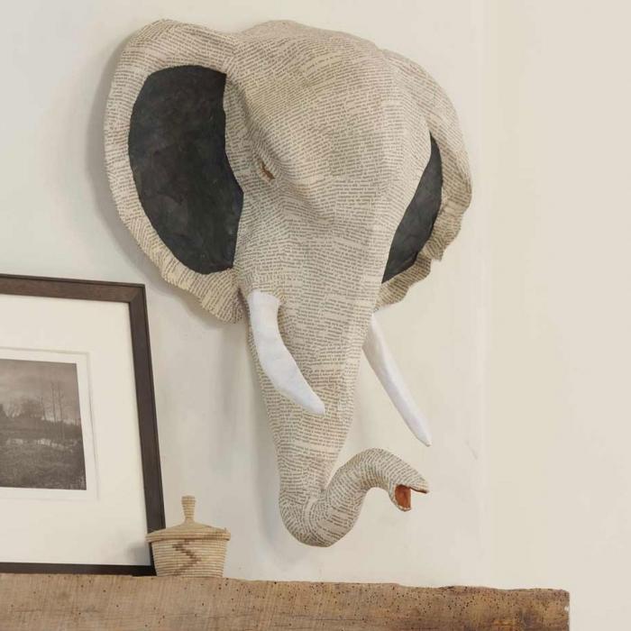 слон из пааье маше