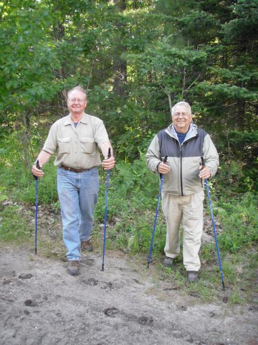 Техника скандинавской ходьбы с палками: инструкция для пожилых, фото