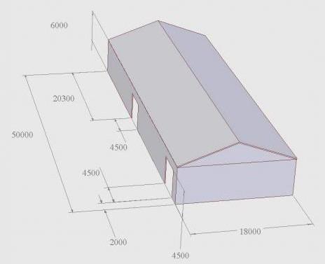 металлический ангар