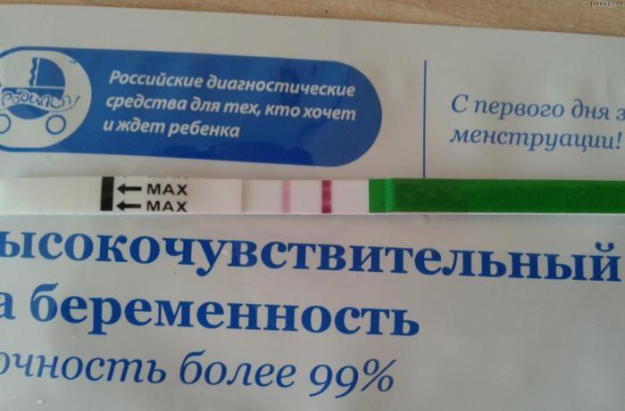 Фото тест на беременность я родился