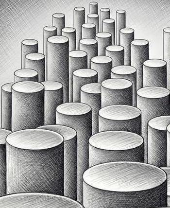 как нарисовать цилиндр поэтапно