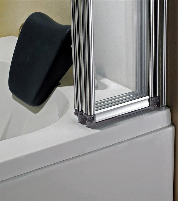 Штора для ванной раздвижная фото