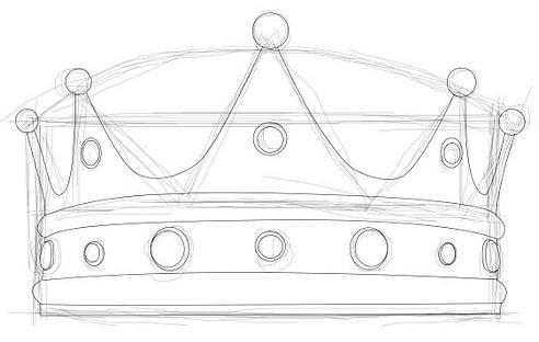 как нарисовать корону