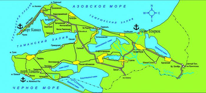 тамань на карте россии фото