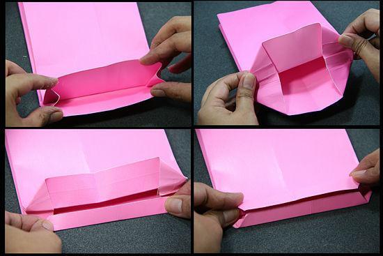 как сделать бумажный пакет