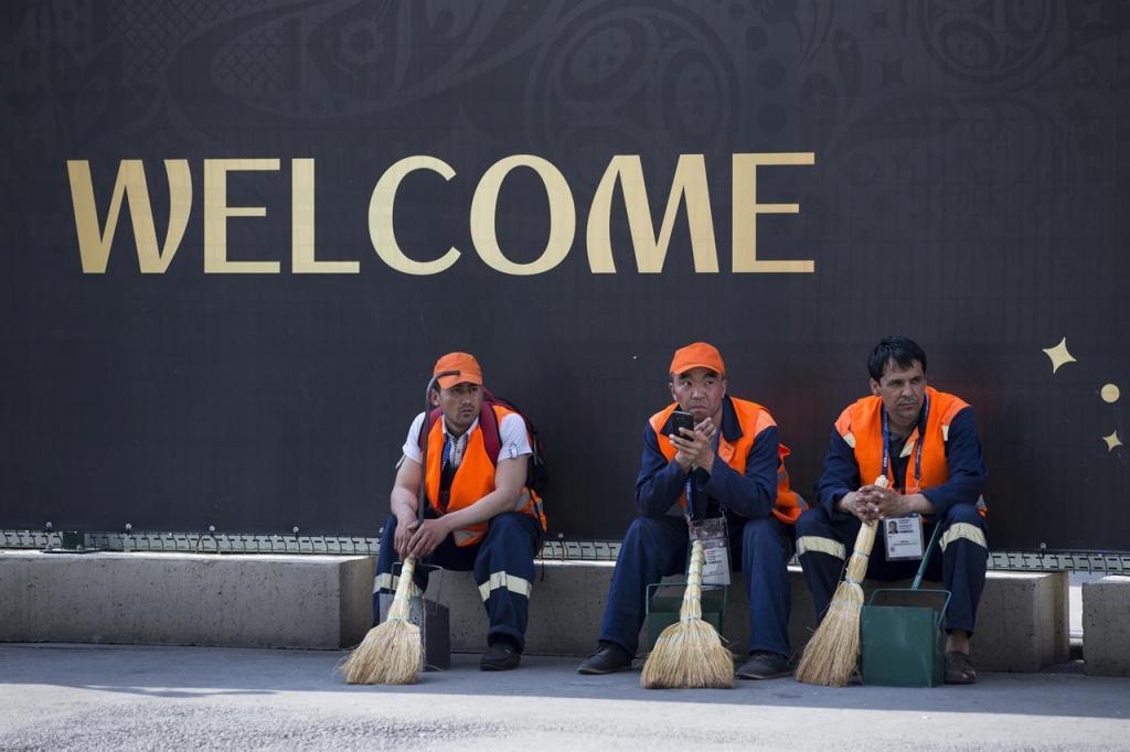 Мигранты на работе