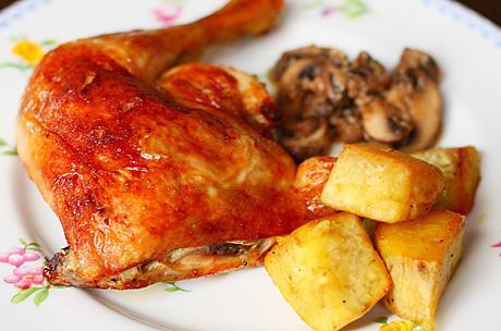 рецепт окорочка с картошкой