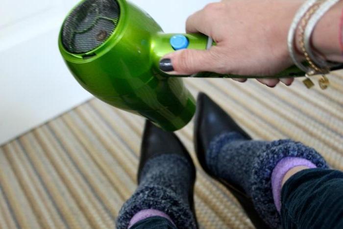 Как увеличить размер обуви не из кожи
