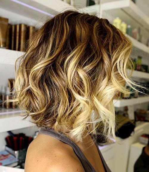 Окрашивание омбре на коротких волосах