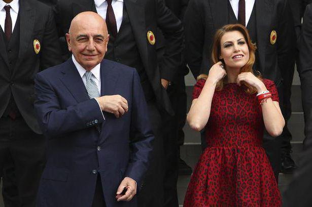адриано галлиани с женой