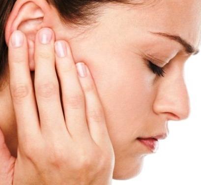 Симптом отита наружного, среднего и внутреннего отделов уха