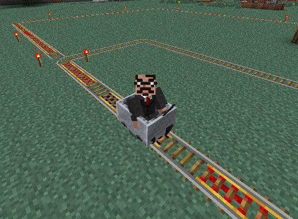 как в майнкрафте сделать вагонетку