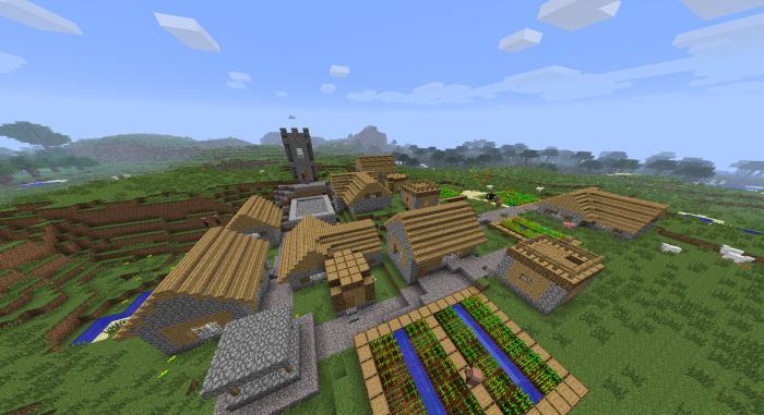 Как найти деревню в майнкрафт