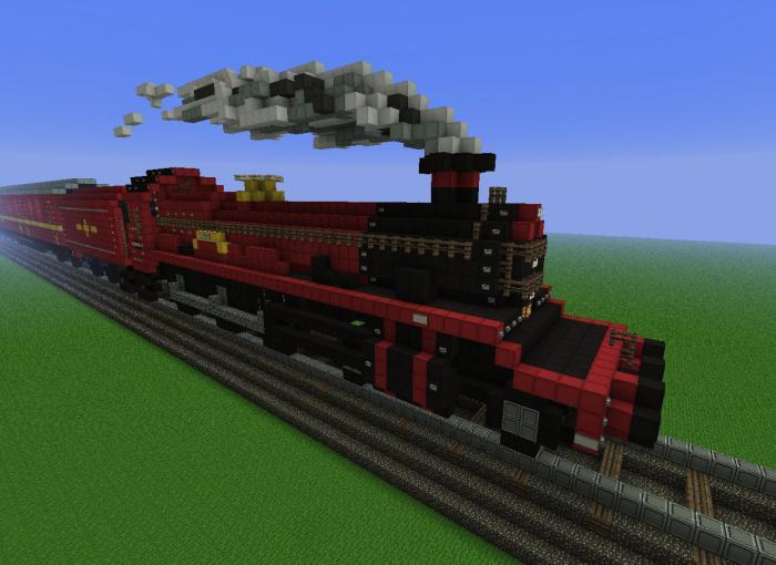 как в майнкрафте сделать поезд из вагонеток