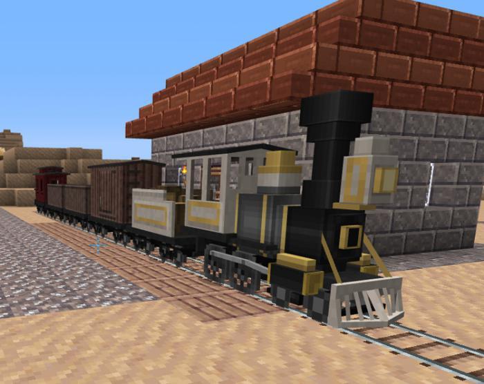 как в майнкрафте сделать поезд который все ломает