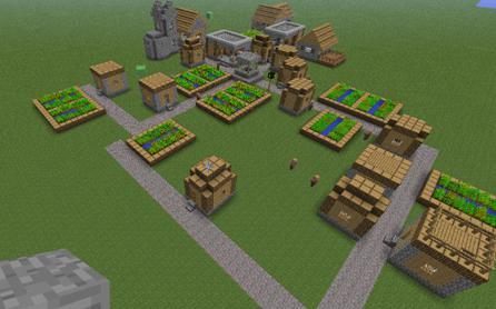как сделать в майнкрафте деревню